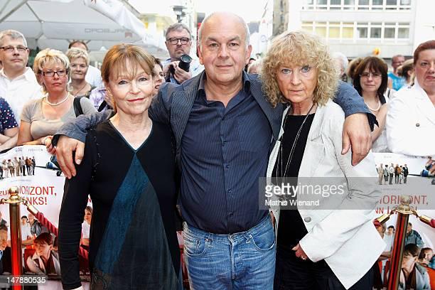 Angelica Domroese Bernd Boehlich and Eva Martens attend the premiere of 'Bis Zum Horizont Dann Links' at Lichtburg on July 5 2012 in Essen Germany