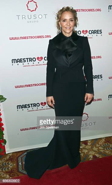 Angelica Fuentes attends the Maestro Cares Foundation's Fourth Annual Changing Lives/Building Dreams Gala at Cipriani Wall Street on March 21 2017 in...