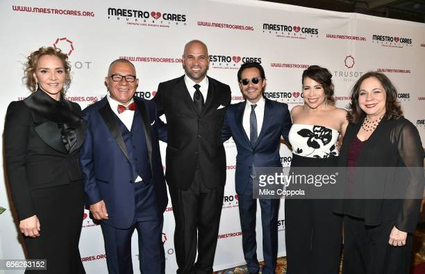 Angelica Fuentes Henry Cardenas Albert Pujols Marc Anthony Rosal Colon and Rosalba Rolon attend the Maestro Cares Foundation's fourth annual...
