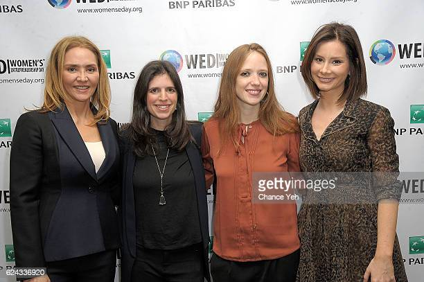 Angelica Fuentes Jenny Abramson Katherine Ryder and Rebecca Jarvis attend Women's Entrepreneurship Day 2016 at United Nations on November 18 2016 in...