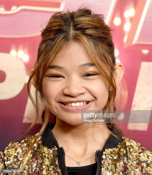 Angelica Hale arrives at 'America's Got Talent The Champions' Finale at Pasadena Civic Auditorium on October 17 2018 in Pasadena California