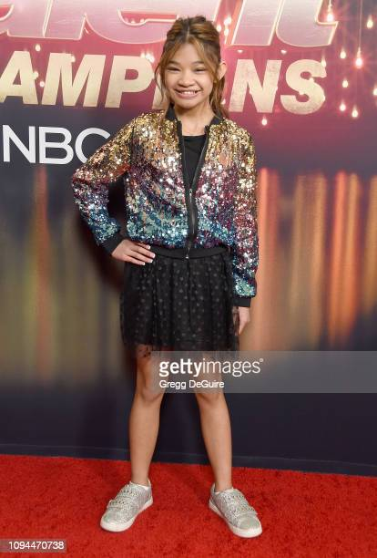 Angelica Hale arrives at America's Got Talent The Champions Finale at Pasadena Civic Auditorium on October 17 2018 in Pasadena California