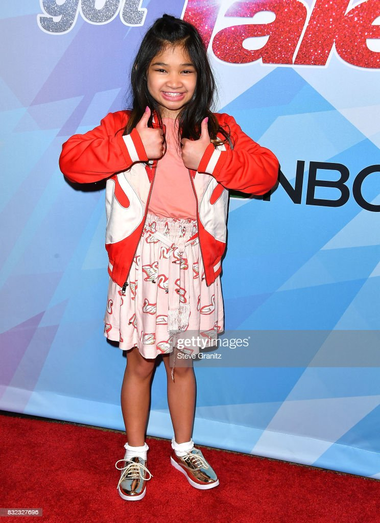 Angelica Hale arrives at the Premiere Of NBC's 'America's Got Talent' Season 12 at Dolby Theatre on August 15, 2017 in Hollywood, California.