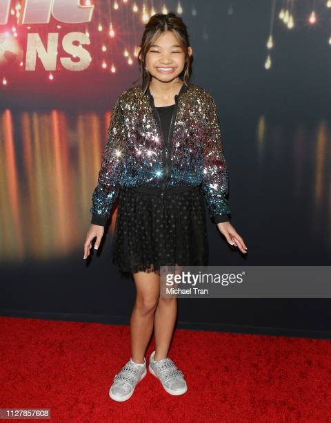 """Angelica Hale attends the """"America's Got Talent The Champions' Finale held at Pasadena Civic Auditorium on October 17 2018 in Pasadena California"""