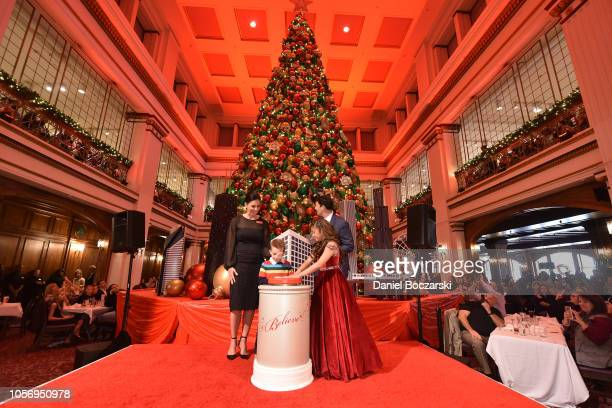 Angelica Hale Hal Lawton Macy's President MakeAWish® child Ethan Kim Groth Vice President and store manager help Macy's and MakeAWish® launch annual...