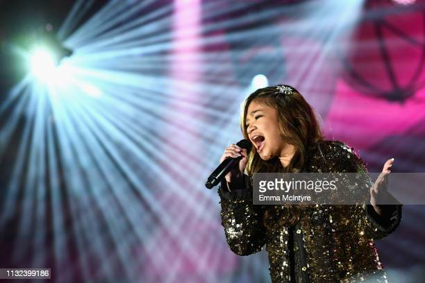 Angelica Hale performs onstage during Celebrity Fight Night XXV on March 23 2019 in Phoenix Arizona