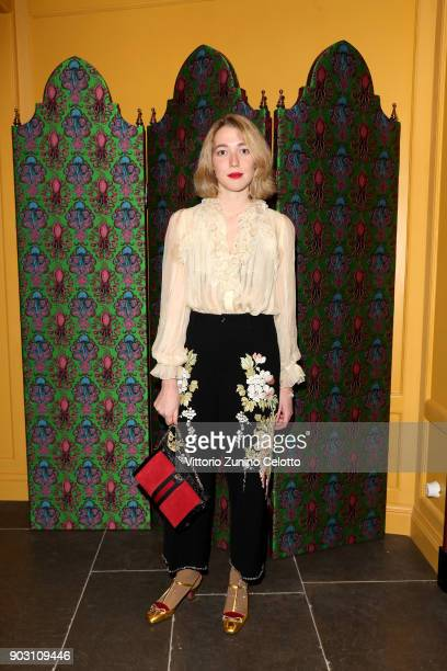 Angelica Hicks attends Gucci Garden Opening on January 9 2018 in Florence Italy