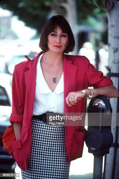 Angelica Houston actress and daughter of actor/director John HoustonOn a Beverly Hills street March 9 1985 Los Angeles Beverly Hills California