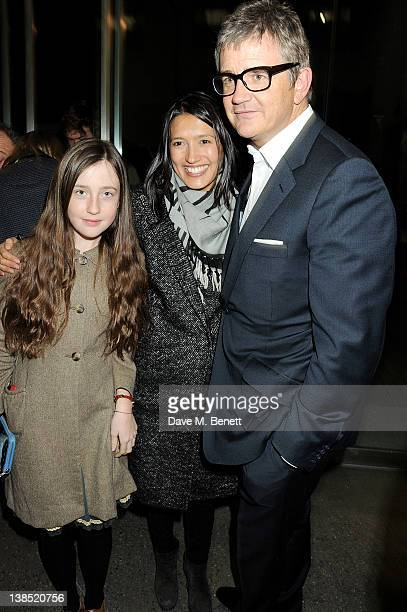 Angelica Jopling Hikari Yokoyama and Jay Jopling attend the launch of Louise Fennell's debut novel 'Dead Rich' at White Cube on February 8 2012 in...
