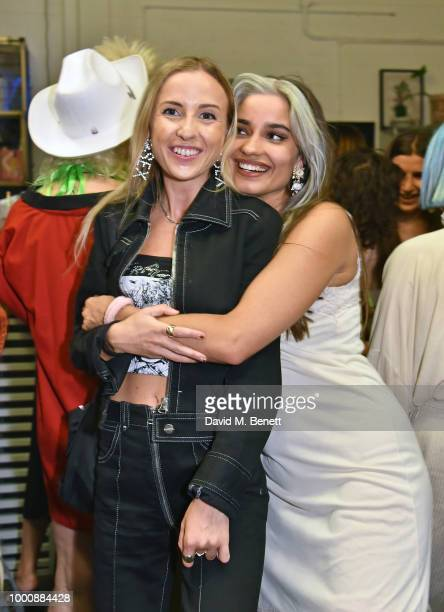 Angelica Mandy and Mimi Wade attend the Bleach Summer Party at Protein Studios on July 17 2018 in London England
