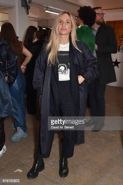 Angelica Mandy attends the Mimi Wade presentation during London Fashion Week February 2018 at One Star Hotel in Shoreditch on February 16 2018 in...