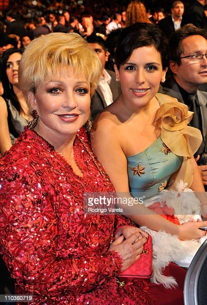 Angelica Maria and Angelica Vale at the Univision Premio Lo Nuestro 2008 at the American Airlines Arena on February 21 2008 in Miami Florida