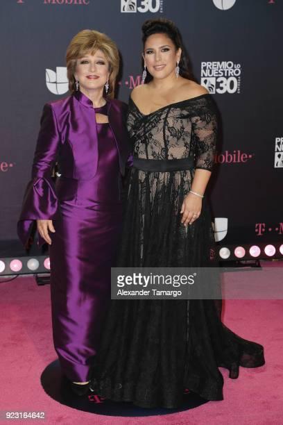 Angelica Maria and Angelica Vale attend Univision's 30th Edition Of Premio Lo Nuestro A La Musica Latina at American Airlines Arena on February 22...