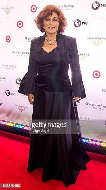 Angelica Maria arrives at the 29th Hispanic Heritage Awards where she will be honored with a Legend Award at the Warner Theatre on September 22 2016...