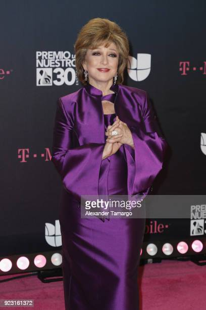 Angelica Maria attends Univision's 30th Edition Of 'Premio Lo Nuestro A La Musica Latina' at American Airlines Arena on February 22 2018 in Miami...
