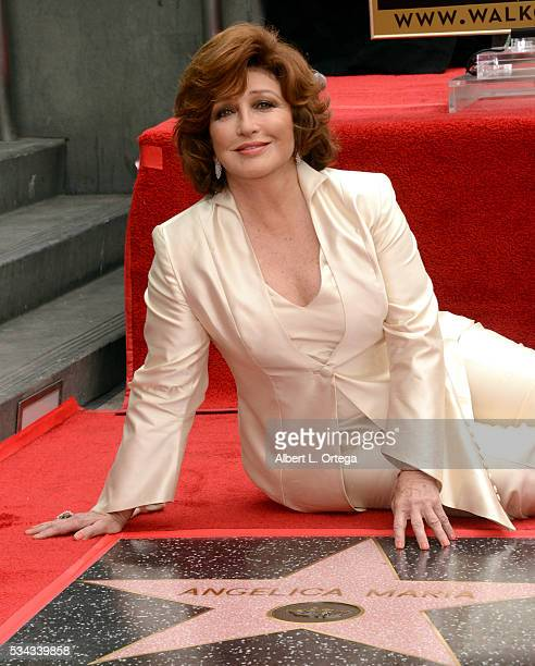 Angelica Maria is honored with a Star on The Hollywood Walk of Fame on May 25 2016 in Hollywood California