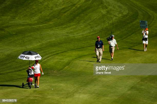 Angelica Moresco of Alabama makes her way down the fairway during the Division I Women's Golf Team Match Play Championship held at the Karsten Creek...
