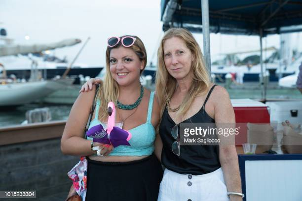 Angelica Morrow and Heidi Kelso attend the Captains and Cocktails Celebration at Claudio's on August 10 2018 in Greenport New York