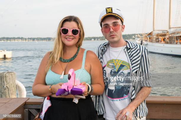 Angelica Morrow and John Davenport attend the Captains and Cocktails Celebration at Claudio's on August 10 2018 in Greenport New York