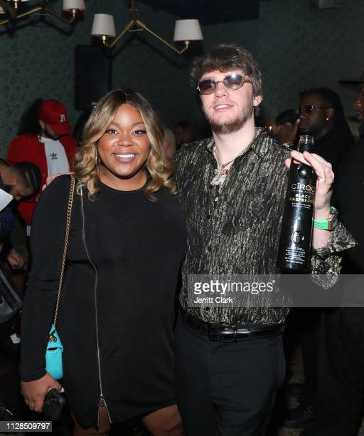 Angelica Nwandu and Murda Beatz attend Murda Beatz 25th Birthday GRAMMY Celebration on February 08 2019 in West Hollywood California