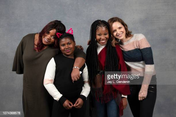 Angelica Nwandu Tatum Hall Dominique Fishback and Jordana Spiro from Night Comes On are photographed for Los Angeles Times on January 19 2018 in the...