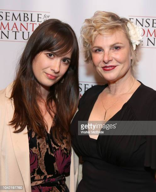 Angelica Page and daughter attend the Opening Night Party for 'Because I Could Not Stop An Encounter with Emily Dickinson' at the West Bank Cafe on...