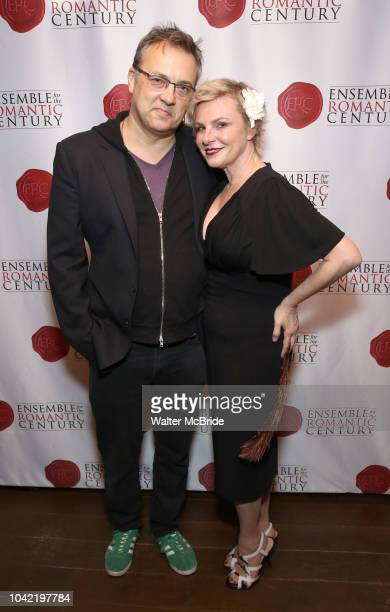Angelica Page and husband Dmitry Lipkin attend the Opening Night Party for 'Because I Could Not Stop An Encounter with Emily Dickinson' at the West...