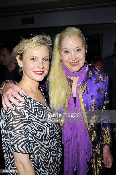 Angelica Page and Sally Kirkland attend 'Archaeology Of A Woman' screening at Village East Cinema on September 12 2014 in New York City