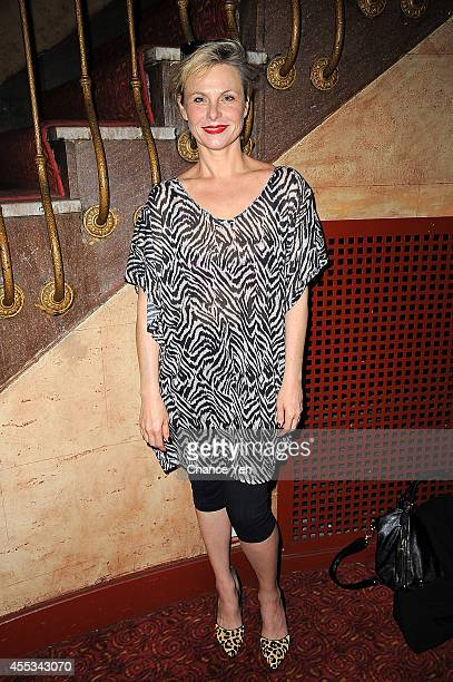 Angelica Page attends 'Archaeology Of A Woman' screening at Village East Cinema on September 12 2014 in New York City