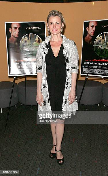 Angelica Page attends the 'Keep Your Enemies Closer Checkmate' screening at the School of Visual Arts Theater on October 1 2012 in New York City