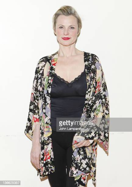 Angelica Page attends the 'Psycho Therapy' OffBroadway cast photo call at the Shelter Theater on January 9 2012 in New York City