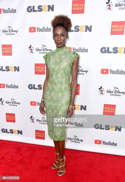 Angelica Ross at the 2017 GLSEN Respect Awards at the Beverly Wilshire Four Seasons Hotel on October 20 2017 in Beverly Hills California
