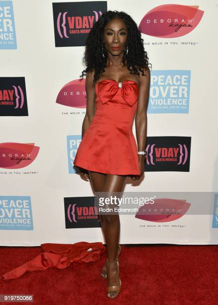 Angelica Ross attends the 20th Anniversary of VDay at The Broad Stage on February 17 2018 in Santa Monica California