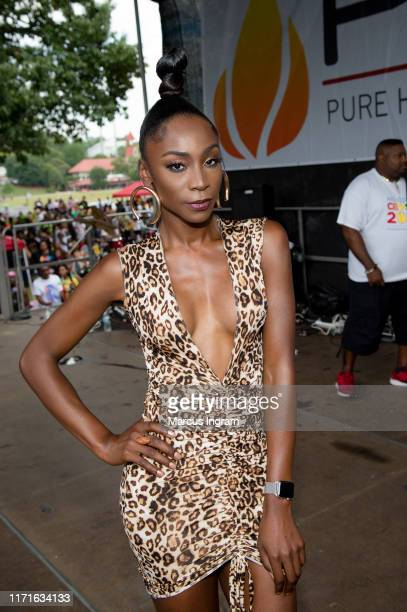 Angelica Ross attends the 8th Pure Heat Community Festival at Piedmont Park on September 01 2019 in Atlanta Georgia