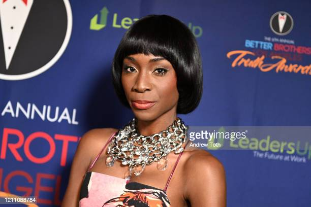 Angelica Ross attends the Better Brothers Los Angeles 6th annual Truth Awards at Taglyan Complex on March 07 2020 in Los Angeles California