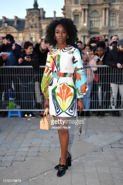 Angelica Ross attends the Louis Vuitton show as part of the Paris Fashion Week Womenswear Fall/Winter 2020/2021 on March 03 2020 in Paris France