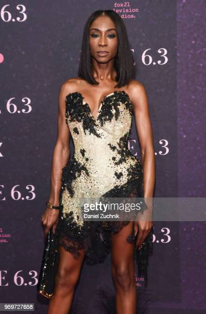Angelica Ross attends the New York premiere of FX series 'Pose' at Hammerstein Ballroom on May 17 2018 in New York City
