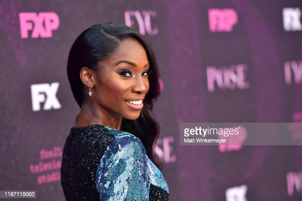 Angelica Ross attends the red carpet event for FX's Pose at Pacific Design Center on August 09 2019 in West Hollywood California