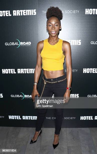 Angelica Ross attends the screening of Hotel Artemis hosted by Global Road Entertainment with The Cinema Society at the Quad Cinema on May 29 2018 in...