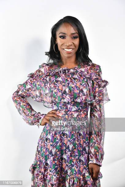 Angelica Ross backstage during Black Women OWN the Conversation at Piedmont Park Greystone on August 08 2019 in Atlanta Georgia