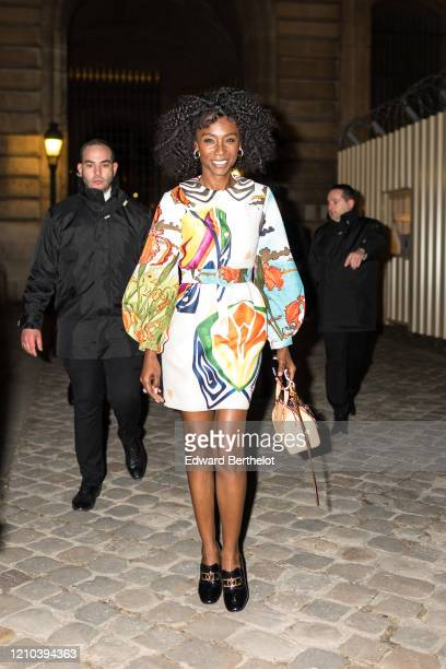 Angelica Ross is seen outside the Vuitton show during Paris Fashion Week Womenswear Fall/Winter 2020/2021 on March 03 2020 in Paris France