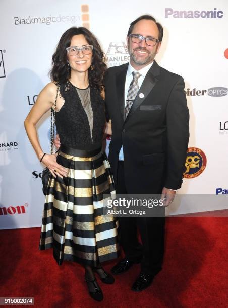 Angelica Sammons and David Sammons arrive for Society of Camera Operators Lifetime Achievement Awards held at Loews Hollywood Hotel on February 3...
