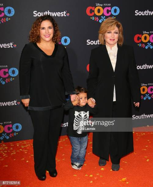 Angelica Vale and Angelica Maria attend the premiere of Disney Pixar's 'Coco' on November 8 2017 in Los Angeles California
