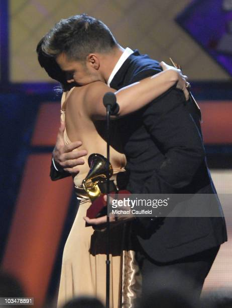 Angelica Vale and singer Ricky Martin during the 8th Annual Latin GRAMMY Awards at Mandalay Bay on November 8 2007 in Las Vegas Nevada