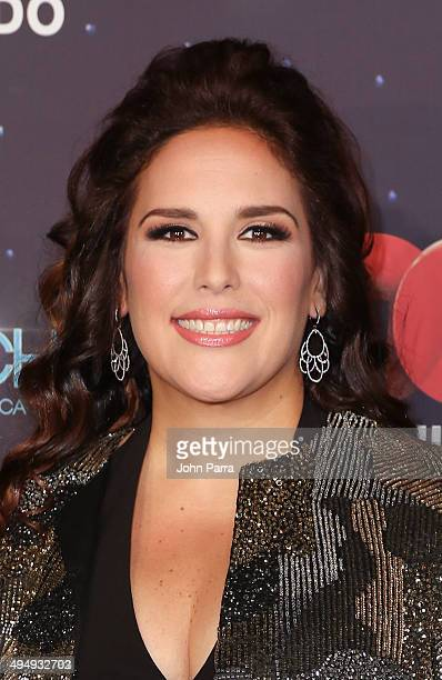 Angelica Vale attends Telemundo 'Que Noche With Angelica And Raul' on October 29 2015 in Miami Florida