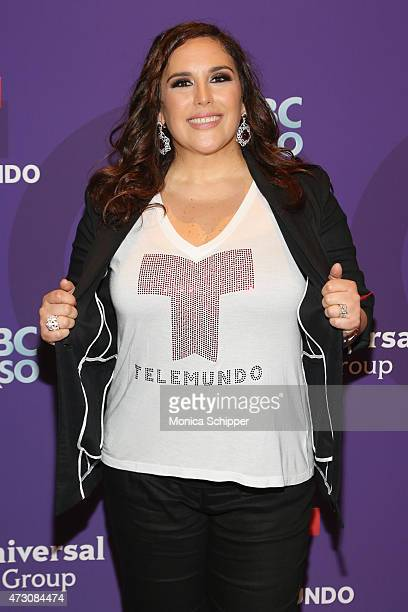 Angelica Vale attends the 2015 Telemundo and NBC Universo Upfront at Frederick P Rose Hall Jazz at Lincoln Center on May 12 2015 in New York City