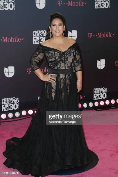 Angelica Vale attends Univision's 30th Edition Of Premio Lo Nuestro A La Musica Latina at American Airlines Arena on February 22 2018 in Miami Florida