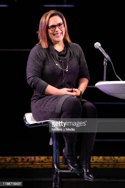 Angelica Vale speaks during the 'Chicago The Musical' press conference on January 10 2020 in Mexico City Mexico