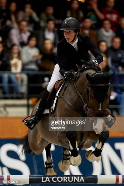 Angelie Von Essen attends during CSI Casas Novas Horse Jumping Competition on December 10 2017 in A Coruna Spain