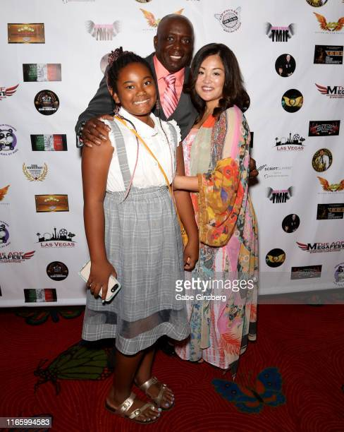 Angelika Blanks actor Billy Blanks and Tomoko Sato attend the Action on Film MEGAFest International Film Festival at the Rio Hotel Casino on August 3...